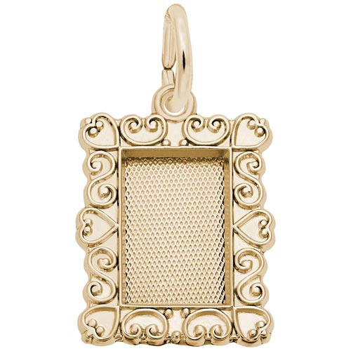 Gold Plated Scroll Pitcher Frame Charm by Rembrandt Charms
