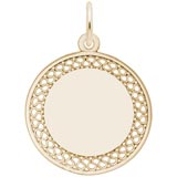 14k Gold Medium Filigree Disc Charm by Rembrandt Charms