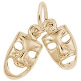14K Gold Comedy & Tragedy Masks Accent by Rembrandt Charms
