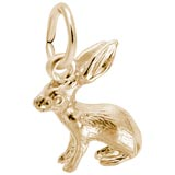Gold Plate Bunny Accent Charm by Rembrandt Charms
