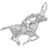Sterling Silver Horse and Jockey Charm by Rembrandt Charms