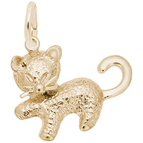Gold Plate Kitten Charm by Rembrandt Charms