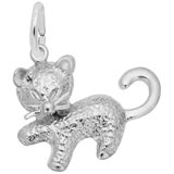 14K White Gold Kitten Charm by Rembrandt Charms
