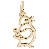Gold Plate Flappy Chick Charm by Rembrandt Charms