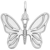 14K White Gold Butterfly Charm by Rembrandt Charms