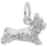 14K White Gold Terrier Dog Charm by Rembrandt Charms