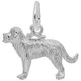 14K White Gold St Bernard Dog Charm by Rembrandt Charms
