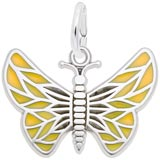 Sterling Silver Painted Wings Butterfly Charm by Rembrandt Charms
