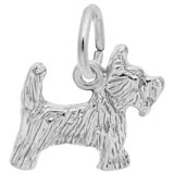 14K White Gold Scottie Dog Charm by Rembrandt Charms