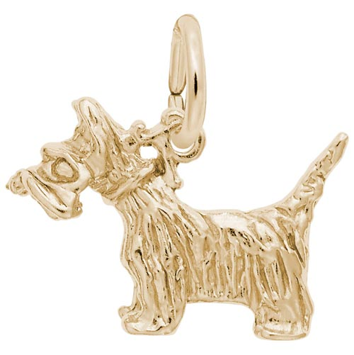 14k Gold Scottie Dog Charm by Rembrandt Charms