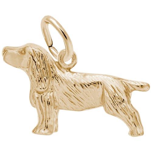 14K Gold Springer Spaniel Dog Charm by Rembrandt Charms