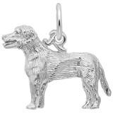 14K White Gold Labrador Retriever Charm by Rembrandt Charms