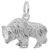 Sterling Silver Grizzly Bear