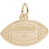 14k Gold College Football Charm by Rembrandt Charms