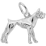 14k White Gold Boxer Dog Charm by Rembrandt Charms