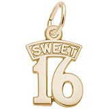 10K Gold Sweet Sixteen Charm by Rembrandt Charms