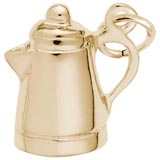 10K Gold Espresso Pot Charm by Rembrandt Charms