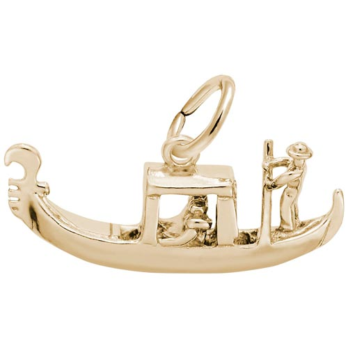 14k Gold Venetian Gondola Charm by Rembrandt Charms