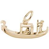 10K Gold Venetian Gondola Charm by Rembrandt Charms
