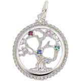 14K White Gold Tree of Life Charm by Rembrandt Charms