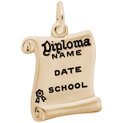 14k Gold Graduation Diploma Charm by Rembrandt Charms