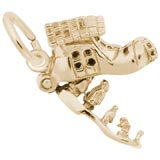 Gold Plate Old Woman in a Shoe Charm by Rembrandt Charms