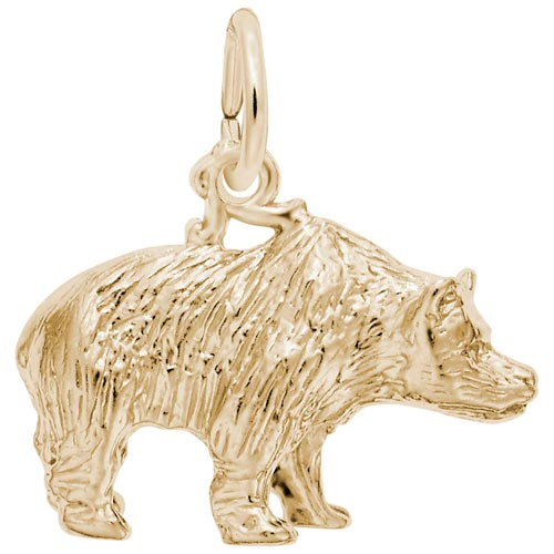 14k Gold Grizzly Bear Charm by Rembrandt Charms
