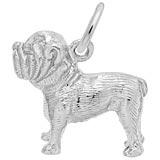 14K White Gold Bulldog Charm by Rembrandt Charms