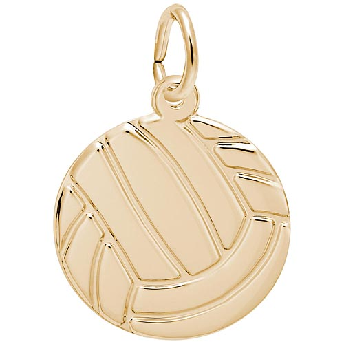 14K Gold Flat Volleyball Charm by Rembrandt Charms
