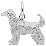 14K White Gold Afghan Dog Charm by Rembrandt Charms