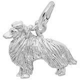 14K White Gold Collie Charm by Rembrandt Charms