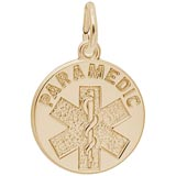 Gold Plated Paramedic Charm by Rembrandt Charms