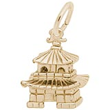 10K Gold Oriental Temple Charm by Rembrandt Charms