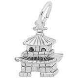 14K White Gold Oriental Temple Charm by Rembrandt Charms