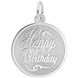 Sterling Silver Happy Birthday Disc Charm