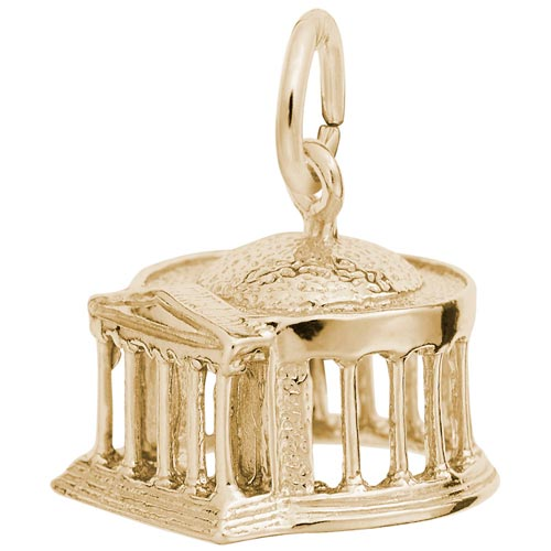 14K Gold Jefferson Memorial Charm by Rembrandt Charms