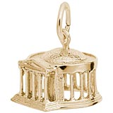 10K Gold Jefferson Memorial Charm by Rembrandt Charms
