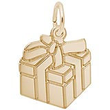 14k Gold Gift Box Charm by Rembrandt Charms