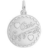 Sterling Silver Our Engagement Charm by Rembrandt Charms