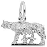 Sterling Silver Romulus and Remus Charm by Rembrandt Charms
