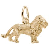 Gold Plate Lion Accent Charm by Rembrandt Charms