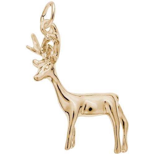 14K Gold Buck Deer Charm by Rembrandt Charms