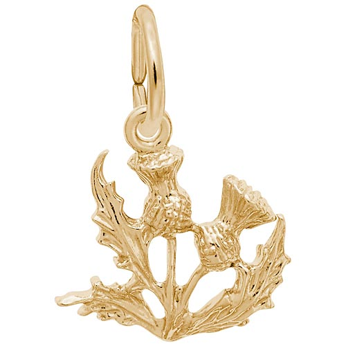 14K Gold Thistle Charm by Rembrandt Charms