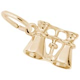 10K Gold Binoculars Charm by Rembrandt Charms