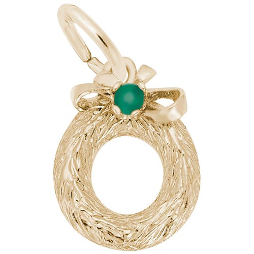 14K Gold Wreath with Bead Charm by Rembrandt Charms