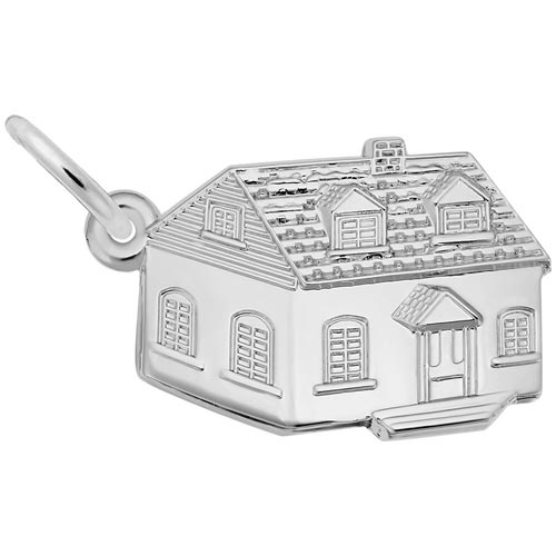 Sterling Silver Colonial House Charm by Rembrandt Charms