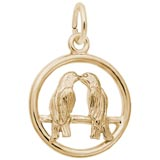 Gold Plate Love Birds Charm by Rembrandt Charms