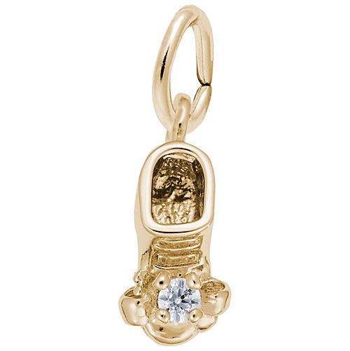 14k Gold Birth Month 04 Apr Bootie Accent by Rembrandt Charms