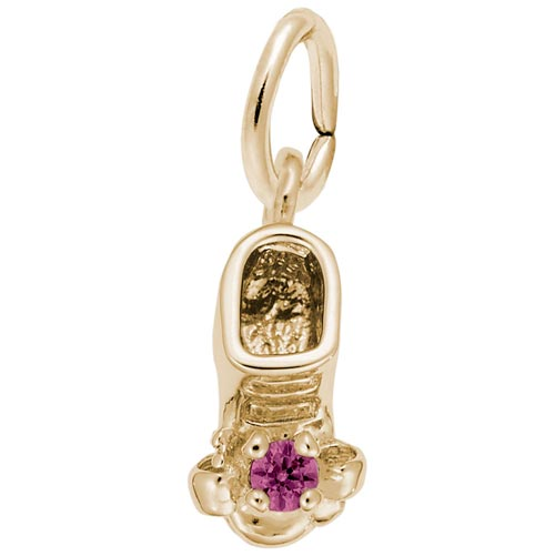 14K Gold Birth Month 07 Jul Bootie Accent by Rembrandt Charms