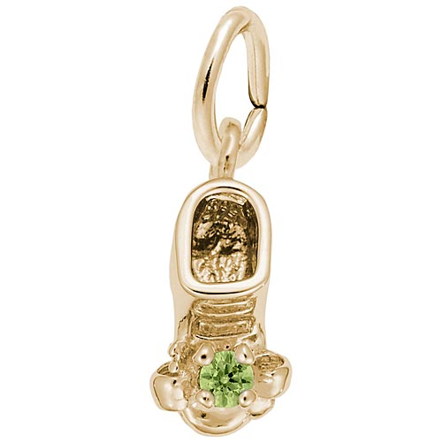 14K Gold Birth Month 08 Aug Bootie Accent by Rembrandt Charms